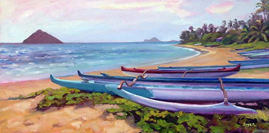 """""""Lanikai Nesting Place"""" by Lynne Boyer, 15"""" X 30"""""""